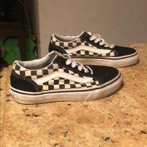 Vans Shoes - Boys checkered Vans size 1.5